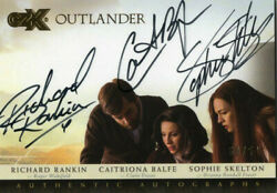 Outlander Czx Triple Autograph Card Crs R Rankin Caitriona Balfe And Sophie 50/50