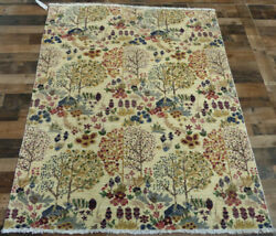 4and0397x6and0396 New Finest Tree Of Life Modern Peshawar Hand Knotted Wool Oriental Rug