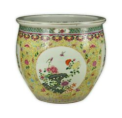 A Massive Chinese Famille Rose Porcelain Tank