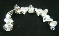And Co Frank Gehry Sterling Silver Multi Heart 8.50 Rare Bracelet
