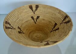 Vintage Handwoven Basket Native American African Hand Crafted 13