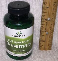 Rosemary Herbal Supplement From Swanson 90 Capsules 400 Mg Each