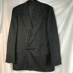 VINTAGE ST MICHAEL MARKS SPENCER PIN STRIPE GREY GENTS DINNER JACKET BLAZER