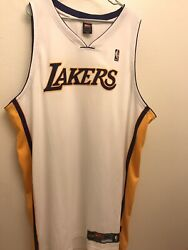 Authentic On Court Nike Lakers Blank Jersey Size 60 Kobe Bryant Holiday White.