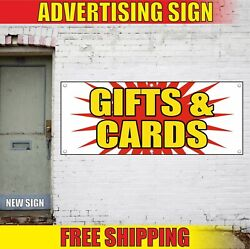 Gifts Cards Banner Advertising Vinyl Sign Flag Shop Certificates Wrapping Flower