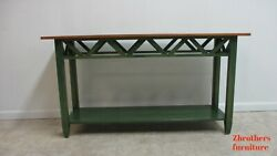 Ethan Allen Country Colors Green Sofa hall Foyer Table Console