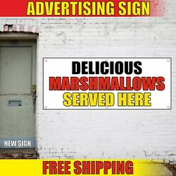 Marshmallows Banner Advertising Vinyl Sign Flag Candy Shop Delicious Served Here