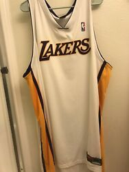 Authentic On Court Nike Lakers Blank Jersey Size 60 Kobe Bryant Holiday White