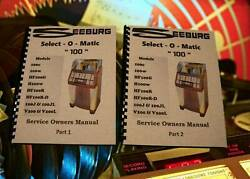 Seeburg Select-o-matic 100 Jukebox Service / Owners Manual 264 Page