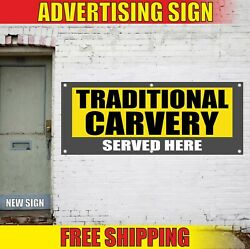 Traditional Carvery Banner Advertising Vinyl Sign Flag Open Best Now Served Here