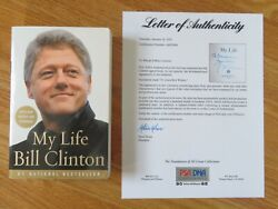 President Bill Clinton Signed My Life 2004 Paperback Book Psa Letter Ah50094
