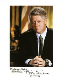 William J. Bill Clinton - Inscribed Photograph Signed 10/09/1996