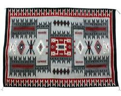 Rrita Williams Storm Pattern Navajo Handwoven 54and039and039 X 78and039and039