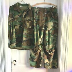Army Woodland Camo Pants Trousers Cold Weather Small Regular And Medium Shirt