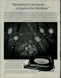 1963 Longines Watch Company Womens Watches Vintage Print Ad 3630