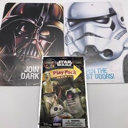 """Star Wars Double Sided Wall Signs , Darth Vadar And Stormtrooper - 8.5"""" X 12.5"""""""
