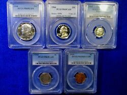 1964 Us Proof Set Pr69 Cam W/pointed-9 Ultra Rare Less Than 183 Sets Possible