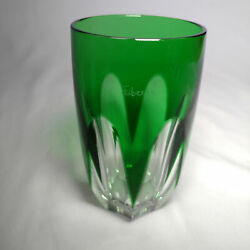 Faberge   Crystal Emerald Green Glass