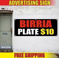 Birria Plate Banner Advertising Vinyl Sign Flag Food Mexican Restaurant Tacos