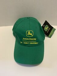 John Deere Green Snapback Tri-County Equipment Adjustable Cap NWT $19.99