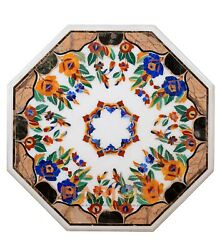 42and039and039 Marble Decorative Living Room Dining Top Table Inlay Floral Garden Art W254