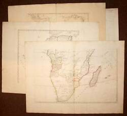 Map Old Original From Continent African Per Robert Of Vaugondy 1787 Map