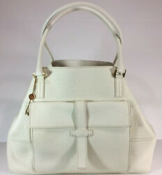Loro Piana Women's Fjord Leather Globe Bag— New With Tags