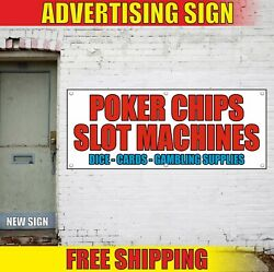 Poker Chips Banner Advertising Vinyl Sign Flag Slot Machines Dice Cards Supplies