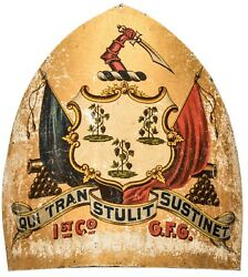 1st Company Connecticut Governors Foot Guard Hand-painted Shako Front Plate