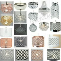 Modern Chandelier Acrylic Crystal Light Shades Droplet Ceiling Pendant Lampshade