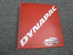 Dynapac Cc10 Double Drum Vibratory Roller With Gas Engine Parts Catalog Manual
