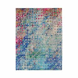 5and0391x7and039 The Peacock Sari Silk Colorful Hand Knotted Oriental Rug R48851