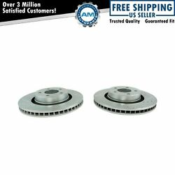 Front Disc Brake Rotor Performance Cross Drilled Zinc Coated Pair For Mustang