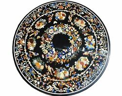 48 Marble Dining Table Birds With Fruits Floral Semi Precious Inlay Decor B308