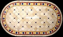 Indian Marble Custom Console Table Top And Free Decorative Serving Plate Inlay Art