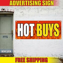 Hot Buys Banner Advertising Vinyl Sign Flag Sale Clearance Offer Price Deal Best