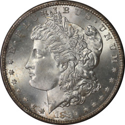 1889-s Morgan Silver Dollar Ngc Ms65 Redfield Collection Super Clean Cheek