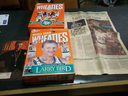Larry Bird Cereal Boxes Sports Illustraded 1997 Newspaper 1993 Hartford Courant