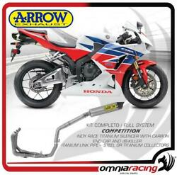 Arrow Full Exhaust Competition Titanium Steel Collect.honda Cbr 600 Rr Abs 13/16