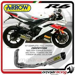 Arrow Full Exhaust Competition Titanium Collect. Steel Yamaha Yzf R6 2012/2016