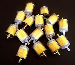 100 Goliath Industrial 5/16 Inline Fuel Gas Filters Lawn Mower Tractor Car Truck