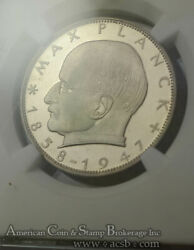 Germany West 2 Marks 1958 D Pr67 Ngc Copper-nickel Km116 Rare Proof 1200 Mint