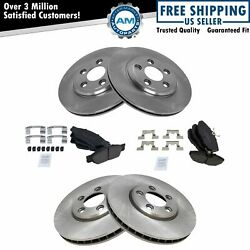 Brake Pad And Rotor Kit Ceramic Front And Rear For Thunderbird S-type Ls