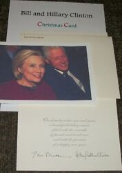 Bill And Hillary Clinton Christmas Card- And Photos Collectible