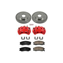 Kc2090 Powerstop 2-wheel Set Brake Disc And Caliper Kits Front For Chevy Equinox