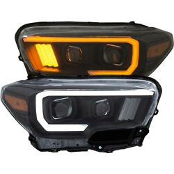 111397 Anzo Headlight Lamp Driver And Passenger Side New Lh Rh For Toyota Tacoma