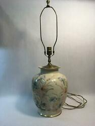 Lg Rare Andrea By Sadek Hand Painted By Mary Vincent Bertrand Vase Lamp - Works