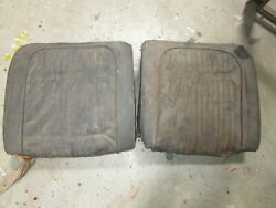 58/60 Corvette Seat Backs Left And Right Car Set Gm Solid C1 283