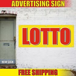 Lotto Banner Advertising Vinyl Sign Flag Raffle Lottery Tickets Fun Game Here 24