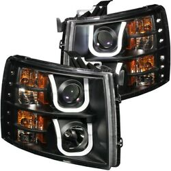 111281 Anzo Headlight Lamp Driver And Passenger Side New For Chevy Lh Rh Chevrolet
